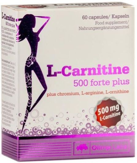 Protein Projekt De L Carnitine 500 Forte Plus 60 Kapseln